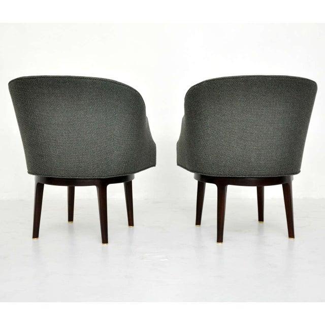 Dunbar Swivel Lounge Chairs by Edward Wormley - Image 4 of 9