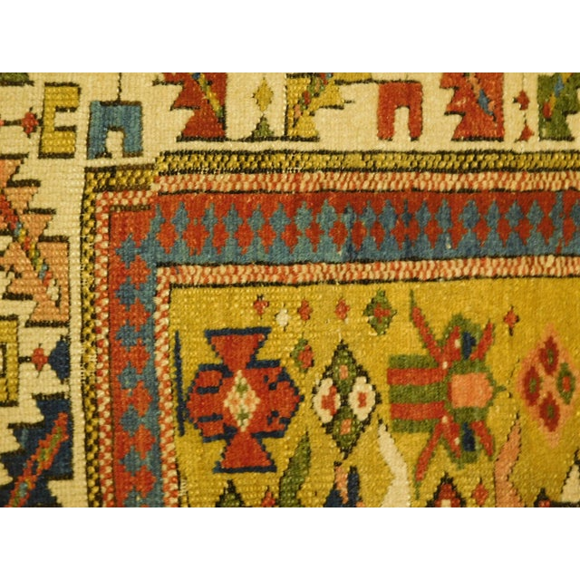 Textile 1900s Antique Caucasian Shirvan Runner For Sale - Image 7 of 13
