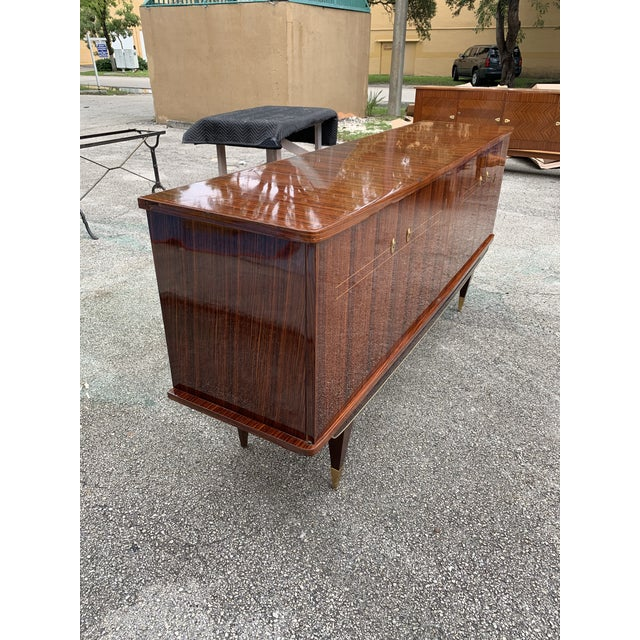 1940s Vintage French Macassar Ebony Sideboard For Sale - Image 10 of 13