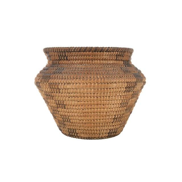 Wood Antique Mission Indian Basket Circa 1900 For Sale - Image 7 of 9