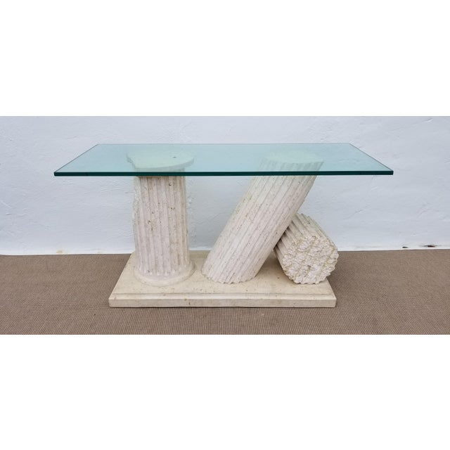 1970s Hollywood Regency Column Broken Console Table For Sale - Image 11 of 11
