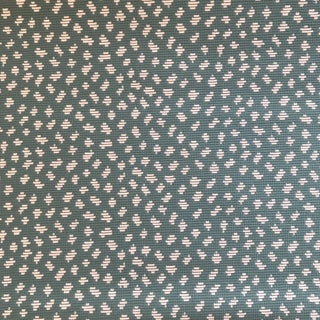"Thibaut ""Pongo"" Turquoise and White Woven Fabric - 4 Yards For Sale"