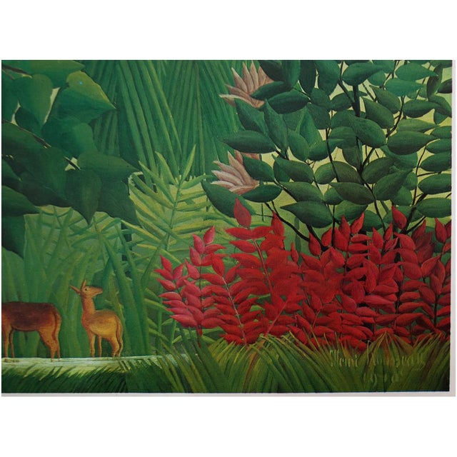 """1966 Henri Rousseau, """"The Waterfall"""" Photogravure From Milan For Sale - Image 4 of 11"""