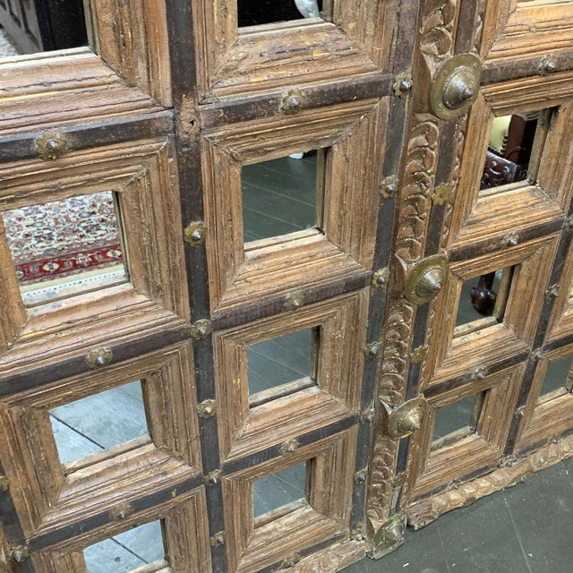 18th Century Mughal Empire Wood Doors-a Pair For Sale In Houston - Image 6 of 7