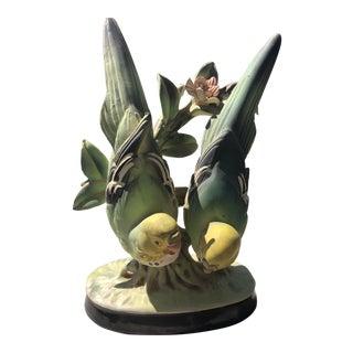 Vintage Mid Century Parakeet Figurines- a Pair For Sale