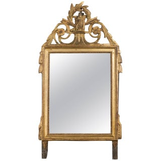 19th Century Louis XVI Style Gilded Mirror For Sale