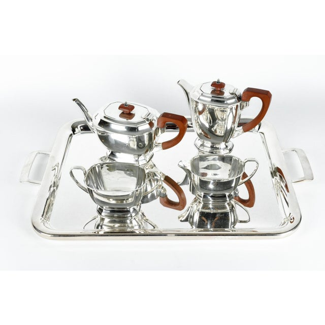 Silver Art Deco Silver Plated Tea/Coffee Set For Sale - Image 8 of 8