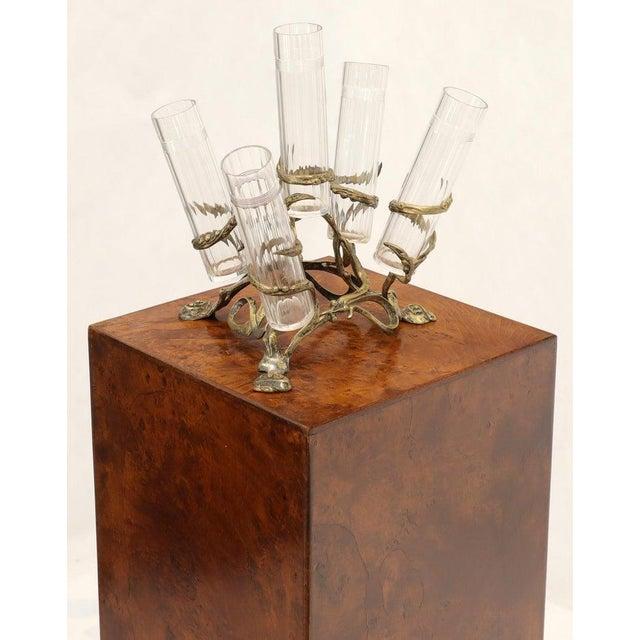 Art Nouveau 5 Branches Center Piece Cut Glass Vases For Sale - Image 4 of 13