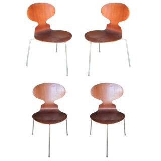 """Arne Jacobsen """"Ant"""" Side Chairs, Set of Four For Sale"""