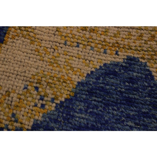 Balouchi Albertha Blue Wool Rug - 4′10″ × 6′6″ For Sale In New York - Image 6 of 8