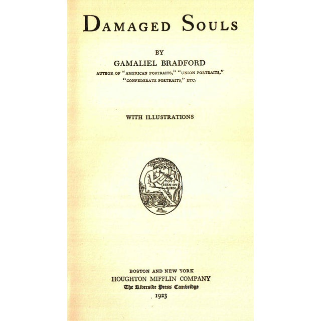 "Traditional 1923 ""Signed Limited First Edition, Damaged Souls"" Collectible Book For Sale - Image 3 of 6"