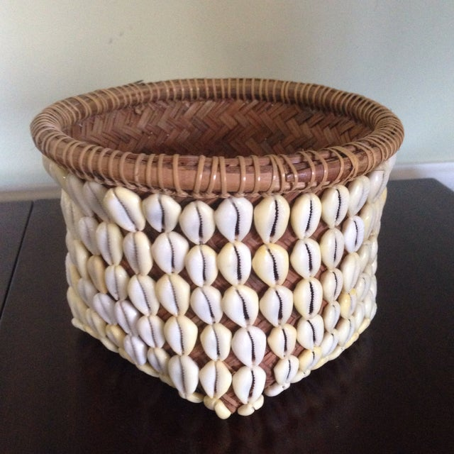 Vintage Woven Shell Basket - Image 10 of 11