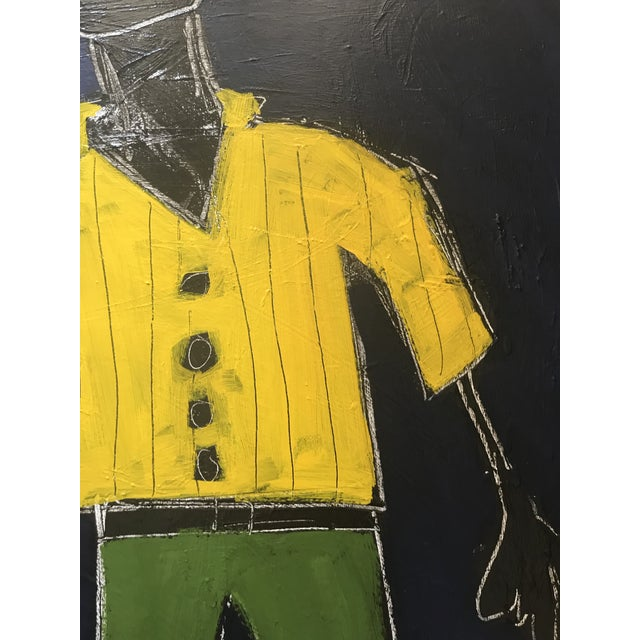 """2010s """"Stride"""" Contemporary Abstract Figure Painting by Sarah Trundle For Sale - Image 5 of 7"""