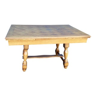 Golden Oak Extendable Dining Table For Sale