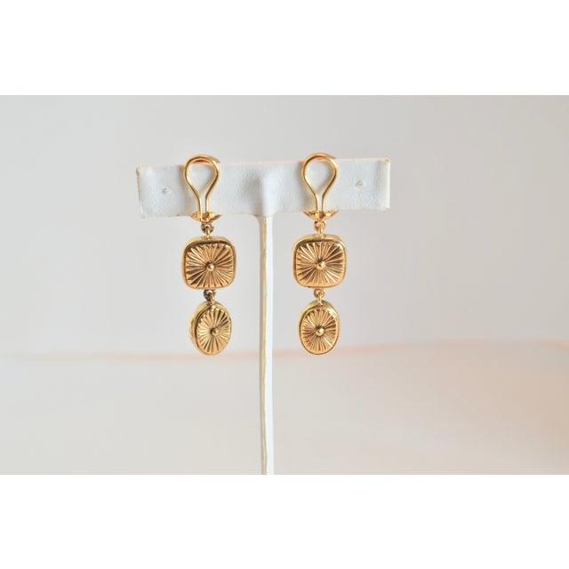 Goossens Paris Triple Drop Tinted Rock Crystal Clip Earrings For Sale - Image 4 of 7