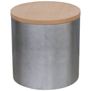 Paul Mayen Stainless Side Table For Sale