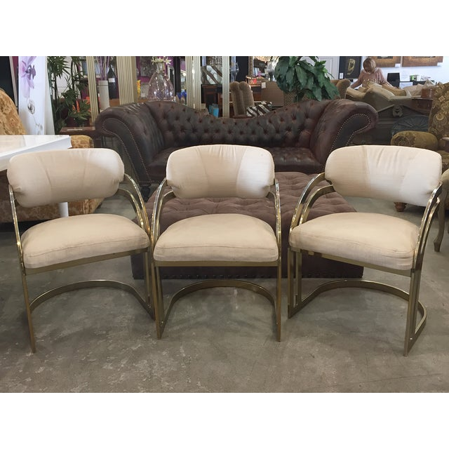 Milo Baughman-Style Vintage Armchairs - Set of 3 - Image 2 of 11