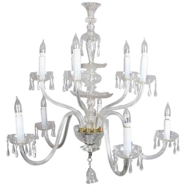 Oversized European Ten-Light Crystal Chandelier, 20th Century For Sale - Image 11 of 11