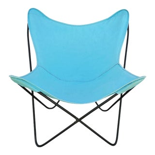 Vintage Mid Century Hardoy Knoll Style Butterfly Chair With 2 Canvass For Sale