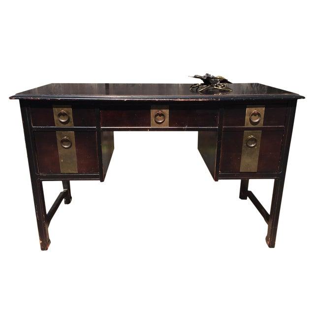 Dark Brown Vintage Bassett Desk - Image 1 of 9