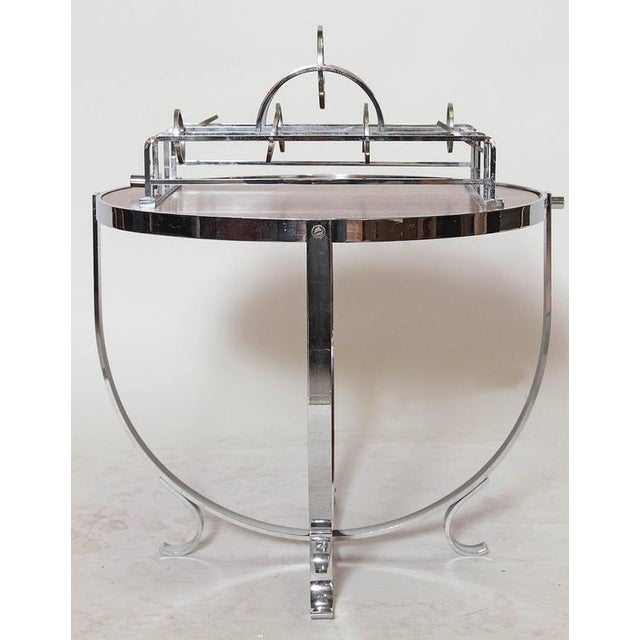 Machine Age Art Deco Streamline Cruise Liner or Pullman Car Cocktail Table For Sale - Image 9 of 11
