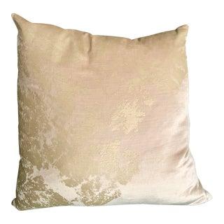 Metallic Velvet Luxe Gold Pillows For Sale