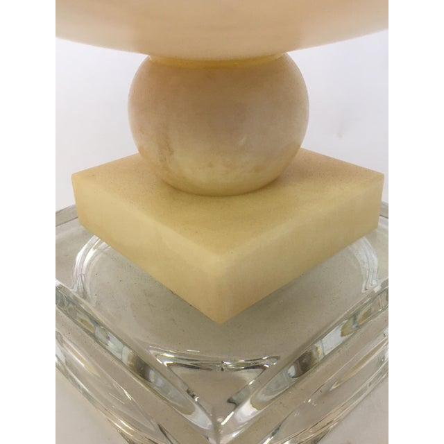 Alabaster and Lucite Foot Centerpiece Bowl For Sale In New York - Image 6 of 9