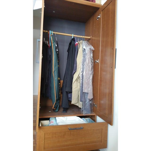 Sienna Oak Finish Wardrobe Armoire - Image 3 of 3