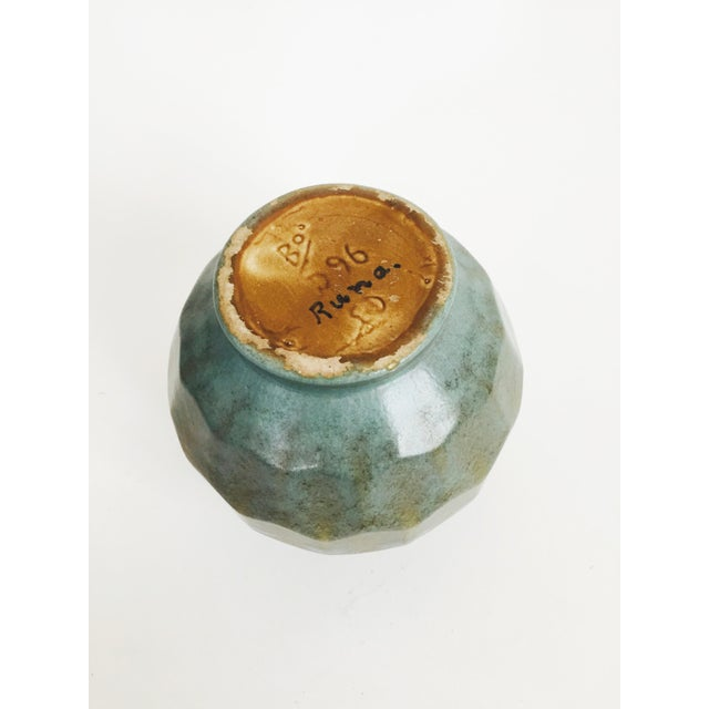 1970s Vintage Faceted Pottery Vase For Sale - Image 5 of 6