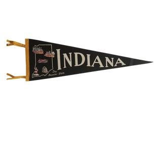 Vintage Indiana Felt Flag Pennant