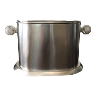 Rock Crystal Handle Ice Bucket/Wine Cooler For Sale