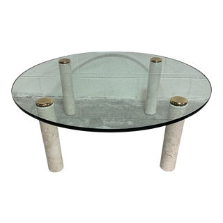 Pace Collection Marble & Glass Coffee Table For Sale