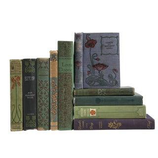 Vintage Floral Motif MIX : Set of Ten Decorative Books For Sale