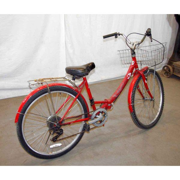 Original Red Strokin Bicycle with Basket - Image 3 of 10
