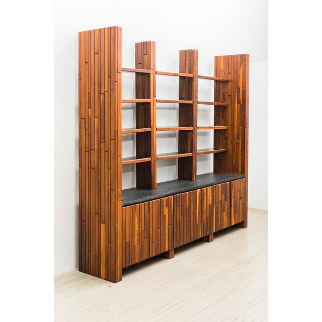 Walnut Phillip Lloyd Powell, Custom Cabinet With Shelves, Usa, 1960s For Sale - Image 7 of 7