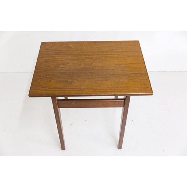 1960s jens risom walnut lamp table chairish 1960s jens risom walnut lamp table image 2 of 8 aloadofball Image collections