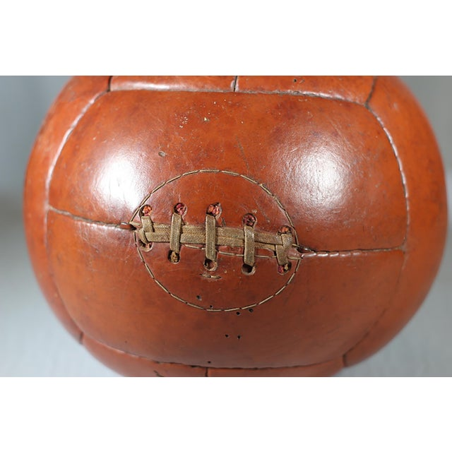 Early 20th-C. Leather Medicine Ball - Image 2 of 3