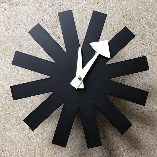 Mid-Century Modern George Nelson for Vitra Mid Century Modern Asterisk Clock For Sale - Image 3 of 3