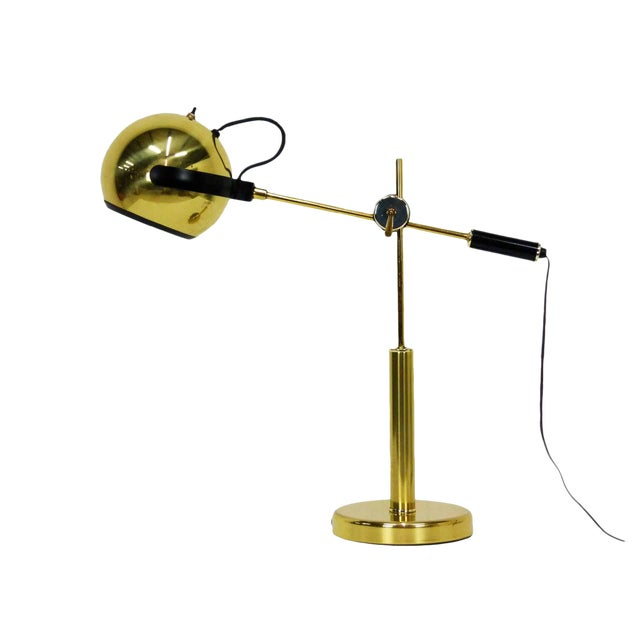 Brass Orb Ball Articulating Desk Lamp - Image 1 of 9
