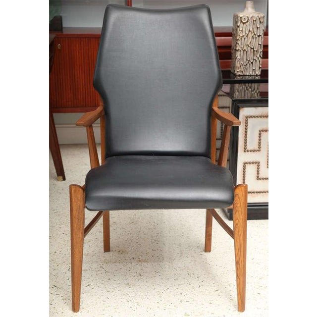 Pair of Danish Modern and Teak Armchairs For Sale - Image 4 of 11