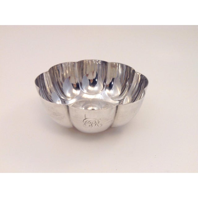 1900s Mid-Century Modern Elkington Silver Fluted Bowl For Sale In New York - Image 6 of 6