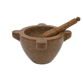 19th Century French Marble Mortar and Pestle For Sale