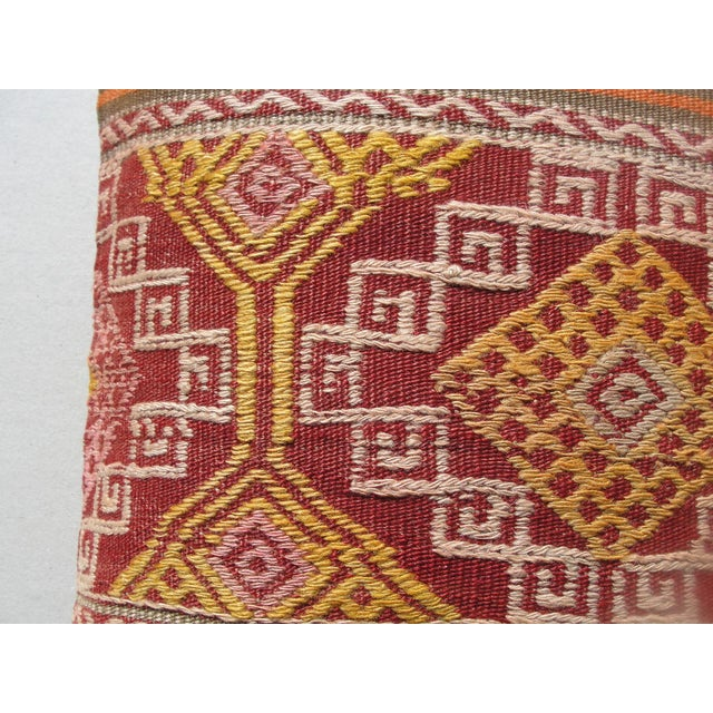 Kilim Rug Pillow For Sale - Image 4 of 11