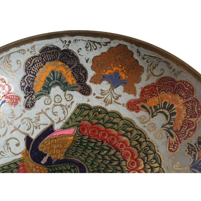 Enamel Peacock Dish - Image 3 of 4