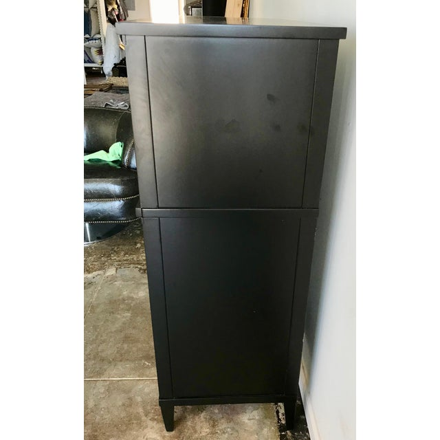 1960s Mid Century Modern Black Lacquer High Boy For Sale - Image 11 of 12
