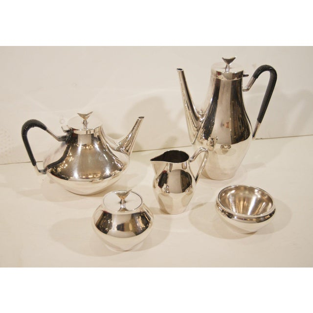 Brown Denmark Complete Tea and Coffee Service by John Prip for Reed & Barton - 5 Pc. Set For Sale - Image 8 of 8