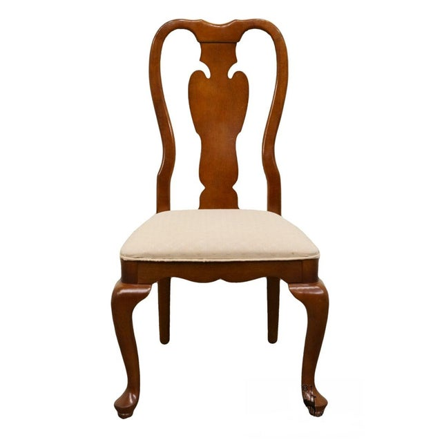 Brown Universal Furniture Cherry Splat Back Queen Anne Style Dining Side Chair For Sale - Image 8 of 8