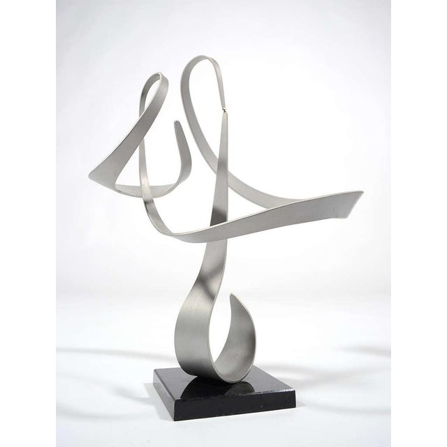 Silver Kinetic Abstract Sculpture by John Anderson For Sale - Image 8 of 11