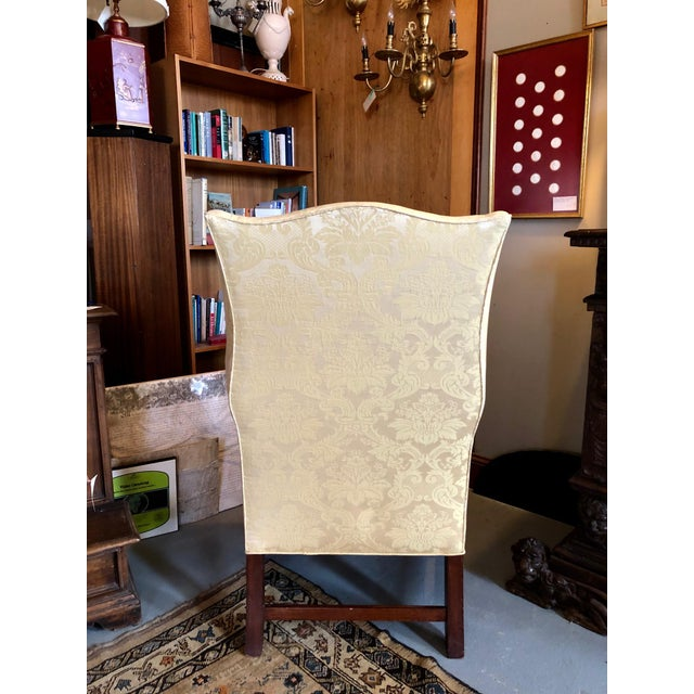 1960s 1960s Vintage High End American Hepplewhite Wing Back Chair For Sale - Image 5 of 9