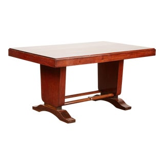 20th Century French Colonial Art Deco Rosewood Desk For Sale